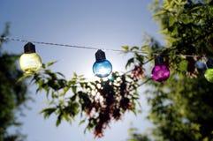 Colorful glass bulbs Royalty Free Stock Photos
