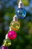 Colorful glass bulbs Stock Images