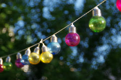 Colorful glass bulbs Royalty Free Stock Images