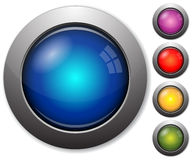 Colorful glass buttons vector illustration