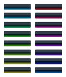 Colorful glass buttons Royalty Free Stock Photography