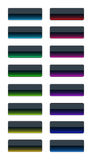 Colorful glass buttons Stock Photos