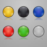 Colorful glass buttons. Set of Colorful glass buttons Stock Photo