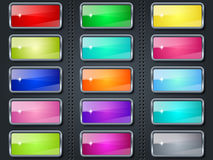 Colorful glass buttons Royalty Free Stock Photo