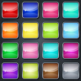 Colorful glass buttons Royalty Free Stock Image