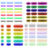 Colorful Glass Buttons Stock Photography
