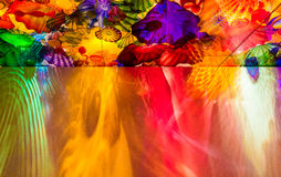 Colorful glass ceiling. Colorful glass art ceiling, WA, USA royalty free stock images