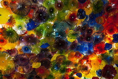 Colorful glass ceiling at the bellagio Stock Images