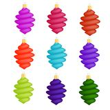 Colorful Glass Christmas Icicles Royalty Free Stock Images