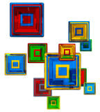 Colorful glass cubes Royalty Free Stock Images