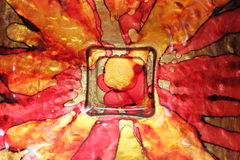 Colorful glass dish Royalty Free Stock Photography