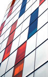 Colorful glass at facade of modern office building. Colorful glass in front of modern office building royalty free stock photo
