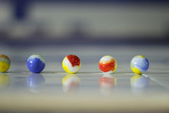 Colorful glass marbels. Photograph of some glass colorful marbles Royalty Free Stock Photo