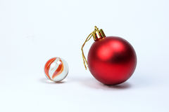 Colorful glass marble Christmas ball. Decoration Stock Images