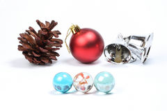 Colorful glass marble pine cone Christmas Royalty Free Stock Photography