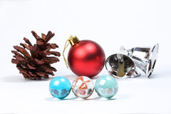 Colorful glass marble pine cone Christmas Stock Image