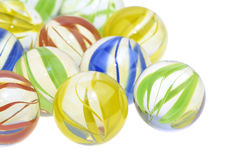 Colorful glass marbles, close up Royalty Free Stock Photo