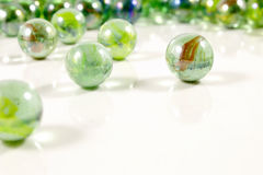 Colorful glass marbles close-up views Stock Photography