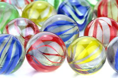 Colorful glass marbles Royalty Free Stock Photo