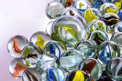 Colorful glass marbles Stock Photos