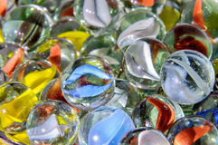 Colorful glass marbles Stock Image