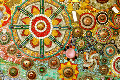 Colorful glass mosaic art and abstract wall backgr royalty free stock photo