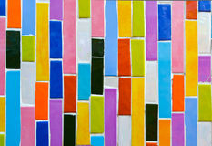 Colorful glass mosaic art,abstract wall background. Stock Images