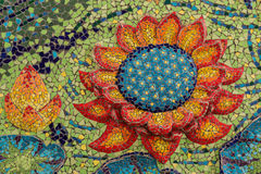 Colorful glass mosaic art shape lotus. Stock Image