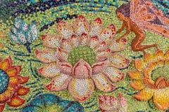 Colorful glass mosaic art shape lotus. Stock Photos
