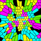 Colorful glass mosaic texture Royalty Free Stock Image