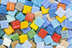 Colorful glass mosaic tiles Stock Image