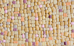 Colorful glass mosaic wall art background royalty free stock images