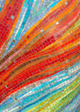 Colorful glass mosaic wall background stock images