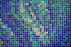 Colorful glass mosaic wall background Royalty Free Stock Image