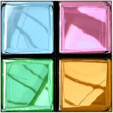 Colorful Glass Palette Photorealistic Rendering stock illustration