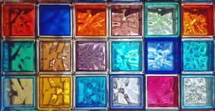 Colorful glass panels in the light Royalty Free Stock Photos