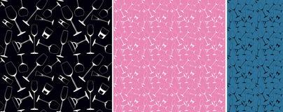 Colorful glass patterns stock illustration