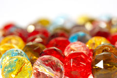Colorful glass-pearls Stock Images