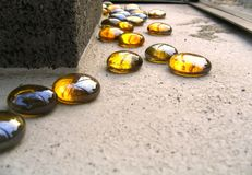 Colorful Glass Pebbles. They are part of a modern design Royalty Free Stock Photography