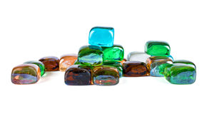 Colorful glass pebbles Stock Photography