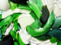 Colorful glass pieces, can use as background Royalty Free Stock Photo