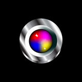 Colorful Glass Push Button Royalty Free Stock Image