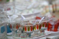 Colorful glass set Stock Photos