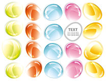 Colorful glass shape abstract background. Over white with place for text Stock Photography