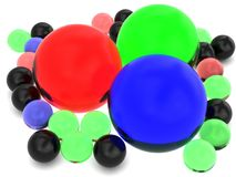 Colorful glass spheres Stock Photography
