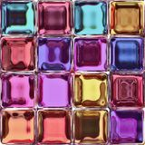Colorful glass tiles Stock Photo