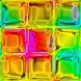 Colorful glass tiles Stock Images
