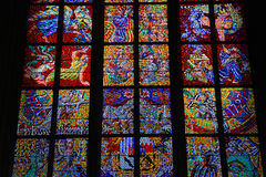 Colorful glass window in church,vienna Stock Photography