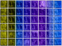 Colorful glass window texture. Colorful window texture made from square glass blocks Stock Image
