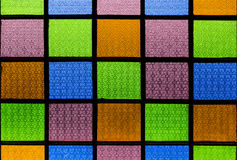 Colorful glass on windows style Royalty Free Stock Photography